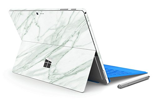 Price comparison product image ChasBete Surface Pro 4 Decal Skin Marble Grain Protective Vinyl Sticker Cover Precision-Fit Art Style,  Easy to Apply for Microsoft Surface Pro4