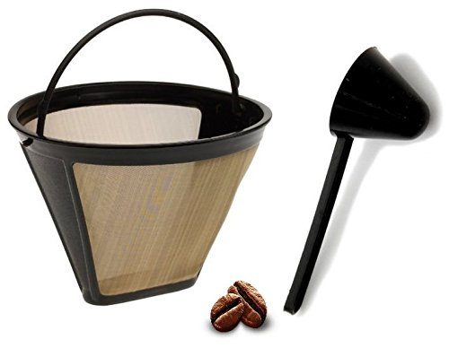 - Replacement Permanent Coffee filter GTF Gold Tone Filter for DCC-3200 with Large Coffee Scoop