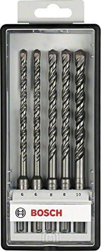 Juego de 5 brocas para martillos perforadores Robust Line SDS-plus-5 /Ø 6,6,8,8,10 x 165mm pack de 5 Bosch 2 607 019 928