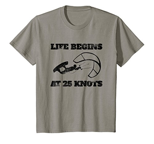 Kids Kiteboard T shirt, Kitesurfing T shirt Fathers Day Gift 12 Slate