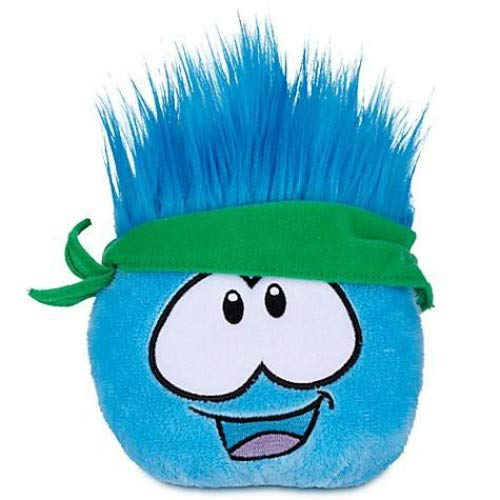 Disney Club Penguin 4 Inch Series 12 Plush Puffle Blue with Bandana Includes Coin with Code!