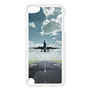 SPRAWL Original New Hard Skin Case Cover Shell for mobilephone Apple Iphone 5 5S, Interesting Fashion Design with Plane Takeoff TPU Phone case cover for ipod 5 white