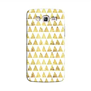 Cover It Up - Gold White Triangle Tile جالاكسي جي 2 Hard Case