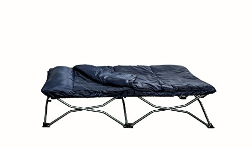 Regalo My Cot Portable Toddler Bed, Includes Sleeping Bag and Travel Case, Navy (Toddler Sleeping Cots)