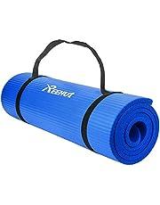 Reehut Gymnastiekmat, yogamat, 12 mm, NBR (nitrilbutadieenrubber), met draagriem, extra dik, antislip, ftalaatvrij, uniseks, 181 x 61 cm