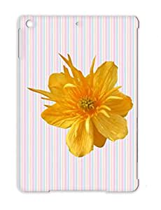 Gold Dustproof Animals Nature Yellow Flower Posy Floret Yellow Mimer Blossom Annual Flora Pompon Bloom USA TPU For Ipad Air Case