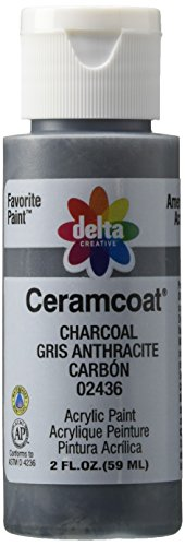 Delta Creative Ceramcoat Acrylic Paint in Assorted Colors (2 oz), 2436, - Matte Color Gray