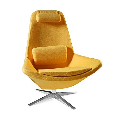 Great Amazon.com: WESOME Metropolitan Leisure Swivel Armchair In Yellow Wool:  Kitchen U0026 Dining