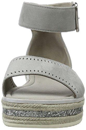 Gabor Shoes Fashion, Sandalias con Cuña para Mujer Gris (stone 19)