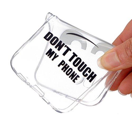 iPhone 6 / iPhone 6S Cover , YIGA Nero Occhio [ Non Toccare Il Mio Telefono ] Silicone Cristallo Morbido TPU Case Custodia per Apple iPhone 6 / iPhone 6S 4.7