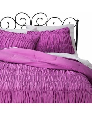 xhilaration-twin-xl-ruched-textured-comforter-set-orchid-purple