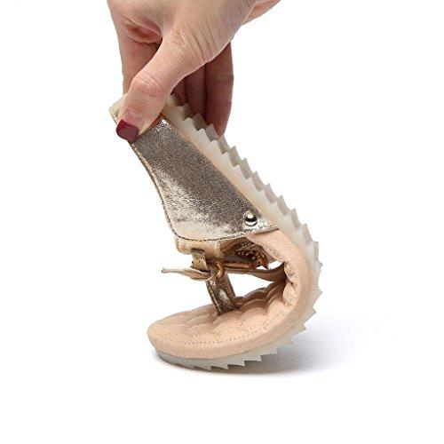 Ciabatte Sandali Spiaggia Colore Puro Da Sportivi Antiscivolo Estate Arizona Slippers Con Scarpe Romani Classic Mare Donna styledresser Strass Oro Piatti Estivi ZnxFrqwOZ