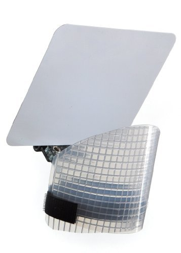Demb Flash Diffuser Pro - Articulating Panel, 4.5'' X 5'' Plus Tiltable Front Diffuser. Controls Proportion Between Ceiling Bounce and Reflector Bounce. by Demb Flash Products