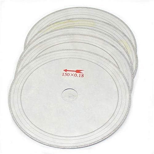 W-SHTAO L-WSWS 10Pcs 0.43mm 6 Inch Super-Thin Diamond Lapidary Saw Blades 150mmx20mm Gems Cutting Disc Cut-off Wheels Diamond Blades