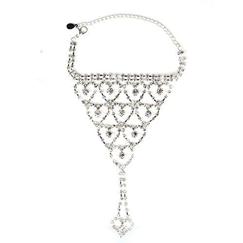 Soograin Rhinestone Harness Bracelet Bangle