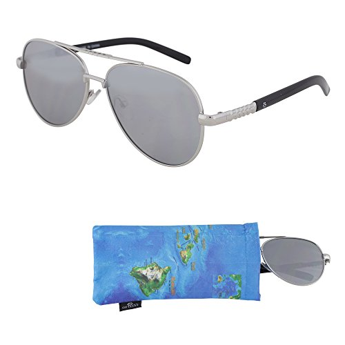 REVO Sunglasses for Teens - Mirrored Lenses for Teenagers - 100% UV Protection (Silver)