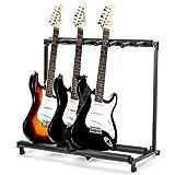 AJO Multi Guitar Stand,7 Holder Guitar Folding Portable Storage Organization Stand Display Rack,Black