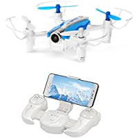 AICase Cheerson CX-17 Mini Drone with 0.3MP Camera Live Vedio Wifi FPV Quadcopter Helicopter RTF with 2.4G 4CH 6-Axis Gyro RC G-Sensor Selfie RC Quad Copter - Blue