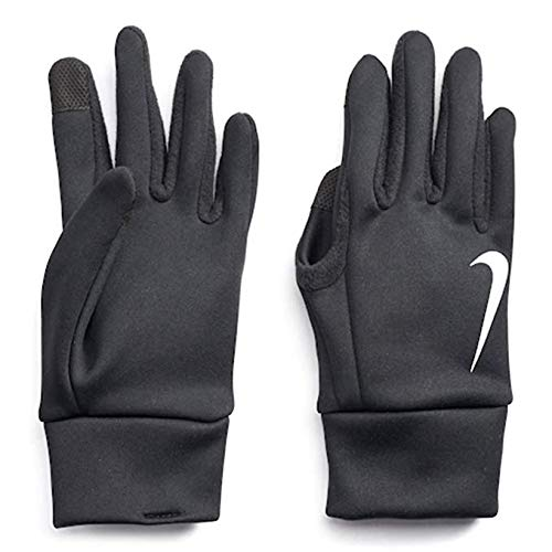 NIKE Mens Thermal Therma Fit Fabric Touch Screen Capability Gloves (Medium, Black) -