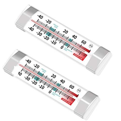 2 Pack Fridge Refrigerator Freezer Thermometer
