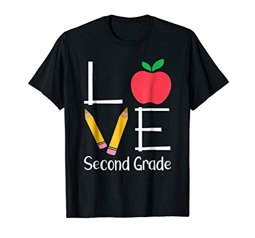 Second Grade Teacher Shirts, Love Second Grade Gift T-Shirt