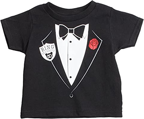 Little Boys' Ring Security Services | Cute Ringbearer Rehearsal Toddler T-shirt-(Toddler,2T)