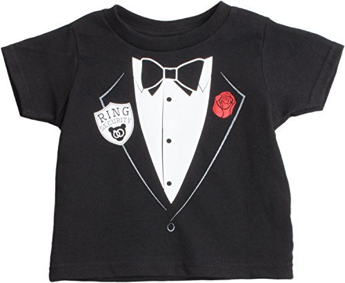 Little Boys' Ring Security Services | Cute Ringbearer Rehearsal Toddler T-Shirt-(Toddler,3T)