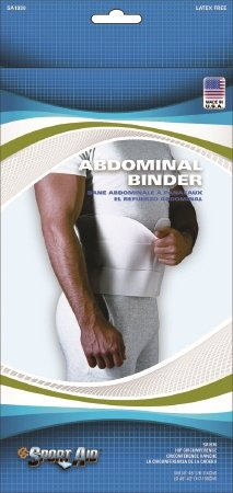 Scott Specialties Sport-Aid Abdominal Binder - SA1930 WHI LGEA - Large, 1 Each / Each by SportAid