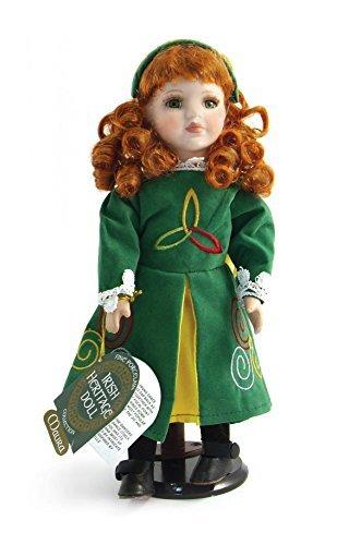 [12 Maura Porcelain Doll in Irish Dancer Costume by irish gifts] (Porcelain Doll Costumes)