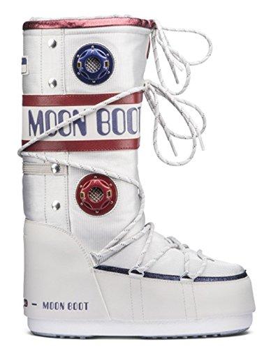Rouge Bleu Neige Tecnica Bottes de Boot Moon Blanc Femme wWPpRvCnq