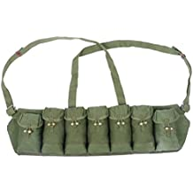 Ultimate Arms Gear Chinese Military Genuine Surplus SKS Rifle 7.62x39 7 Seven Pocket Green M-63 Chest Pouch Rig Bandoleer Bandolier For 14 Cartridge Ammo Ammunition & Stripper Clips