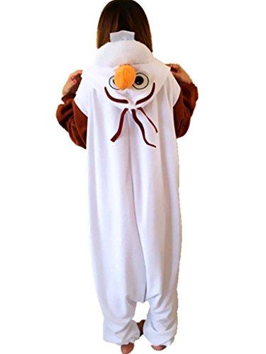 Engerla Fleece Adult Animal Onesie Christmas Gifts Kigurumi Pajamas Costumes Olaf