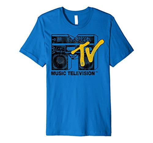 Mtv Boombox - MTV Logo Yellow Boombox Premium T-Shirt