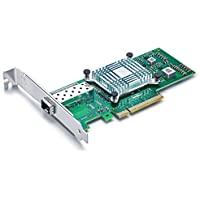 10Gtek for Intel E10G41BTDAG1P5 82599ES Chipset 10Gb Ethernet Converged Network Adapter (NIC), Single SFP+ Port, PCI Express 2.0 X8, Same as X520-DA1/X520-SR1