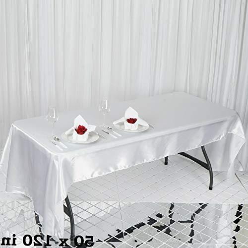 Mikash Rectangular Satin Tablecloth Dinner Wedding Party Linens Decorations Wholesale | Model WDDNGDCRTN - 9191 | 90x132