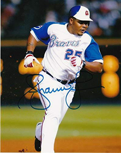Andruw Jones Atlanta Braves Throwback Action Autographed Signed 8x10 - Certified Signature