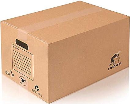 Pack 10 Cajas Carton Mudanza Grandes 500x300x300 - Cajas Carton Baratas - Cajas Carton Mudanza - Cajas Carton - Cajas Mudanza - Cajas de Carton - Cajas de Carton Mudanza - Cajas para Mudanzas: Amazon.es: Oficina y papelería