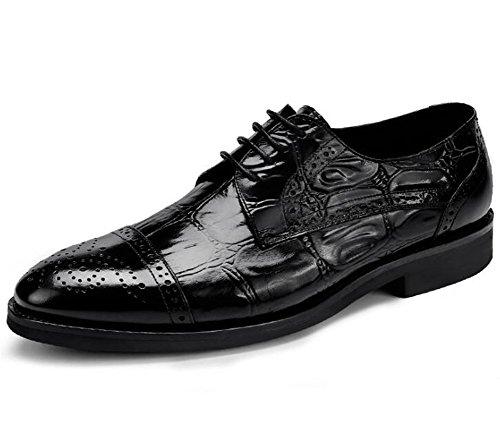 Negocio Eu38 Cocodrilo Hombre eu39 A Zapatos Genuina Black Acento De Negro Tamaño Up Vestir 38 Boda Piel 44 Nanxie Formal Irlandés Fiesta Lace zRXwFF