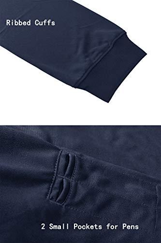 KEFITEVD Polo à manches longues pour homme avec poche zippée 5