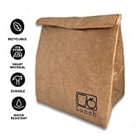 Reusable Brown Paper Cooler Lunch Bag. Eco-Friendly, Durable and Leak Proof Lunch Sack for Office and School