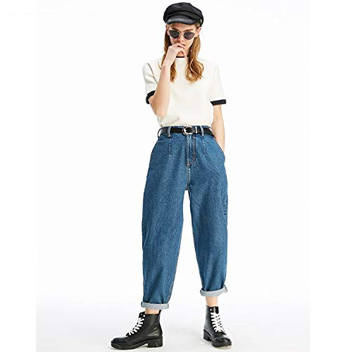sottili MVGUIHZPO jeans jeans Nuovi Cowboy donna jeans grandi jeans comodi blu jeans S L wwztrqHXx