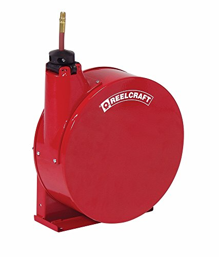 Reelcraft 5420-ELP 1/4'' x 20' Enclosed Hose Reel, 300 PSI w/ Hose by Reelcraft