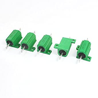 eDealMax a14041000ux1457 5 pieza Verde 7, 5 Ohm 25W 5 ...