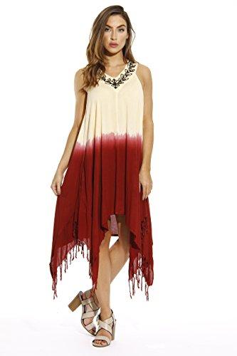 Riviera Sun 21644-BB-L Tie Dye Hanky Dress Summer Dresses for Women from Riviera Sun