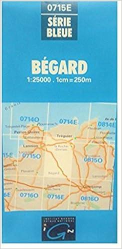 Amazon kindle books: Bégard, Carte n° 0715E, Echelle : 1cm = 250 mètres PDB