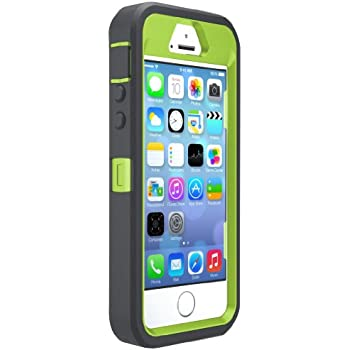 new concept 7c194 147e9 OtterBox DEFENDER SERIES Case for iPhone 5/5s/SE - Frustration Free  Packaging - KEY LIME (GLOW GREEN/SLATE GREY)