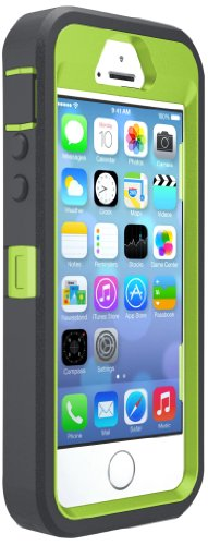 OtterBox DEFENDER SERIES Case for iPhone 5/5s/SE - Frustration Free Packaging - KEY LIME (GLOW GREEN/SLATE GREY) (Apple Lime)