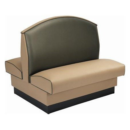 - Arched/Fan Back Double Upholstered Booth - 45