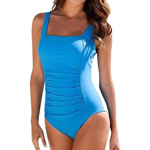 Beautyfine One Piece Swimsuit, Women Push Up Padded Bikini Swimwear Bathing Suit Monoki (One Replica Piece)
