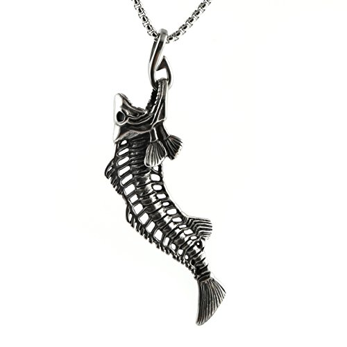 HZMAN Stainless Fishing Skeleton Necklace product image
